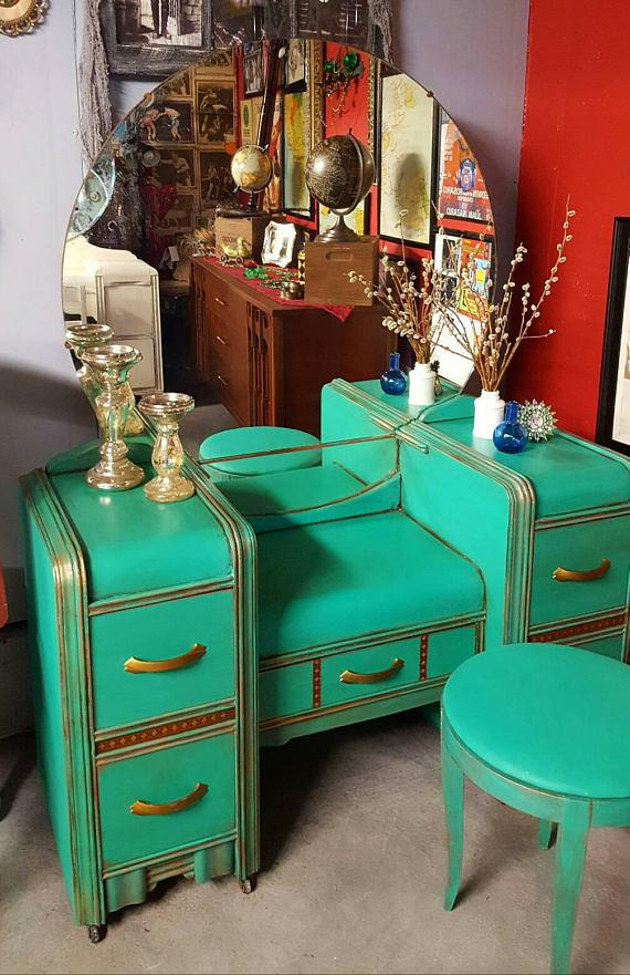 Refinished 1930's Water Fall Vanity
