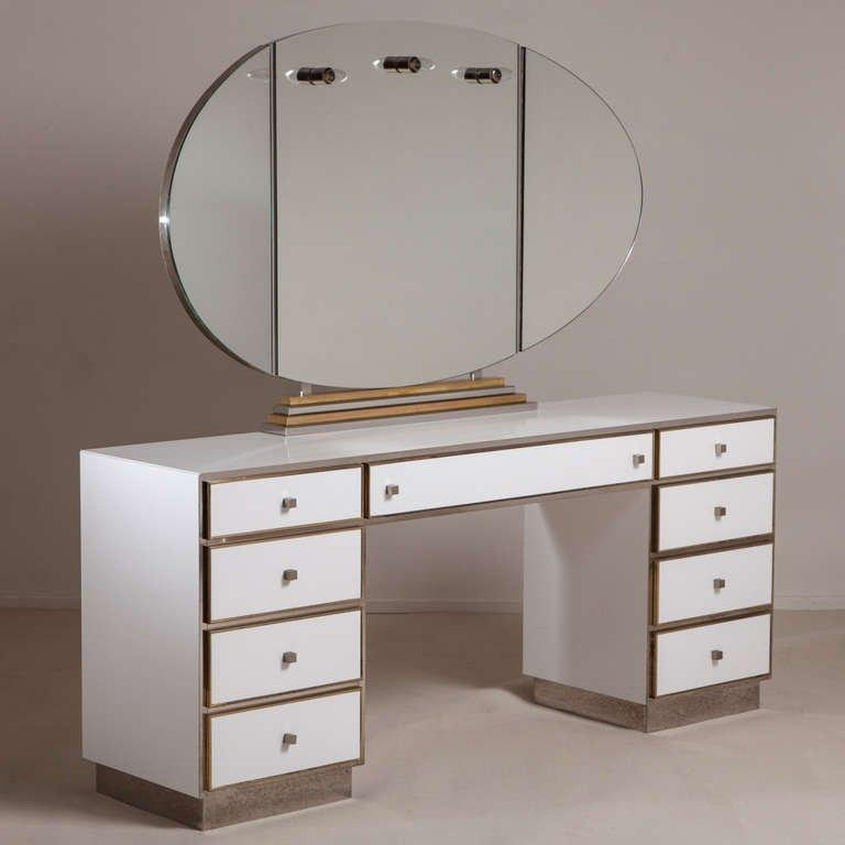 How the vintage vanity became the modern makeup table flourishmentary - Modern bathroom vanity table design ...