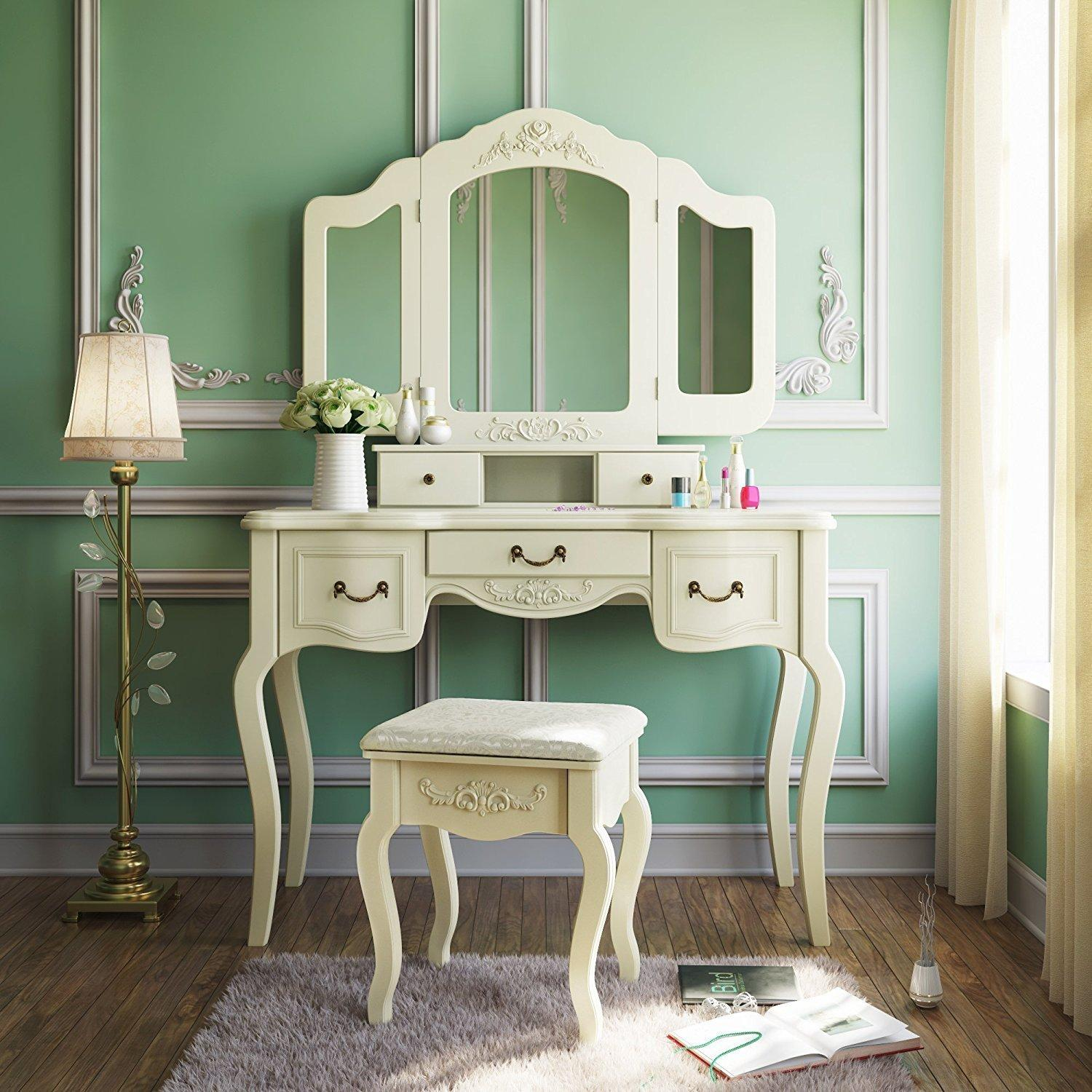 The Historical Past Of The White Vanity Desk
