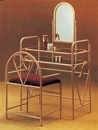 brass vanity table