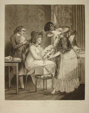 Drawing from 1787 girl at toilet table