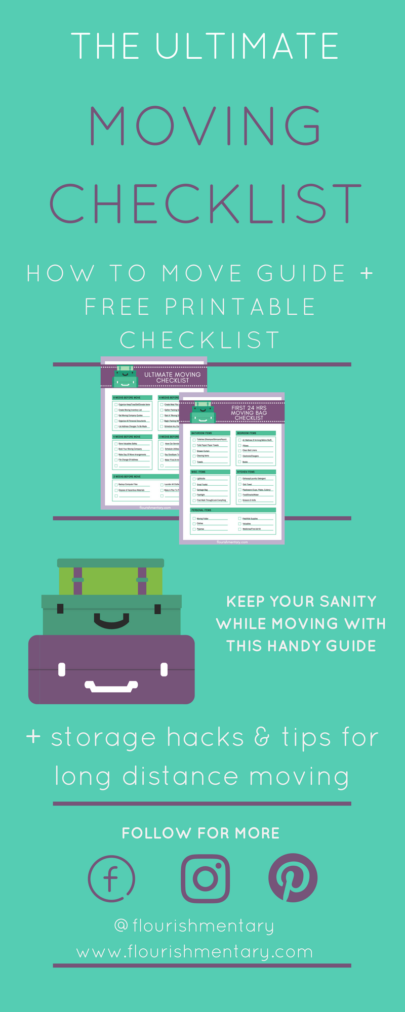 How To Move Guide + The Ultimate Moving Checklist | Flourishmentary