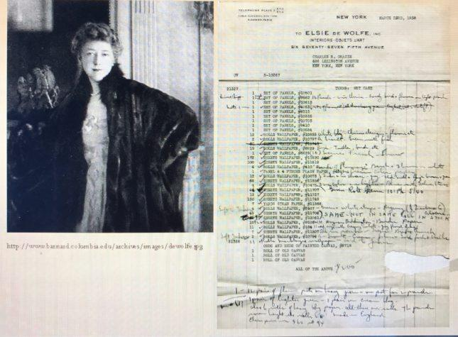Elsie de wolfe purchase order