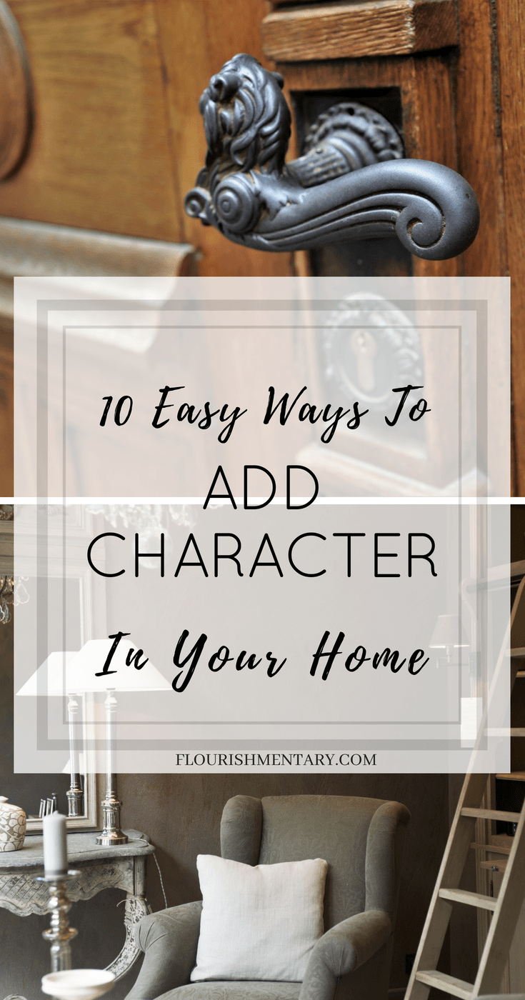 easy ways to ad character to home