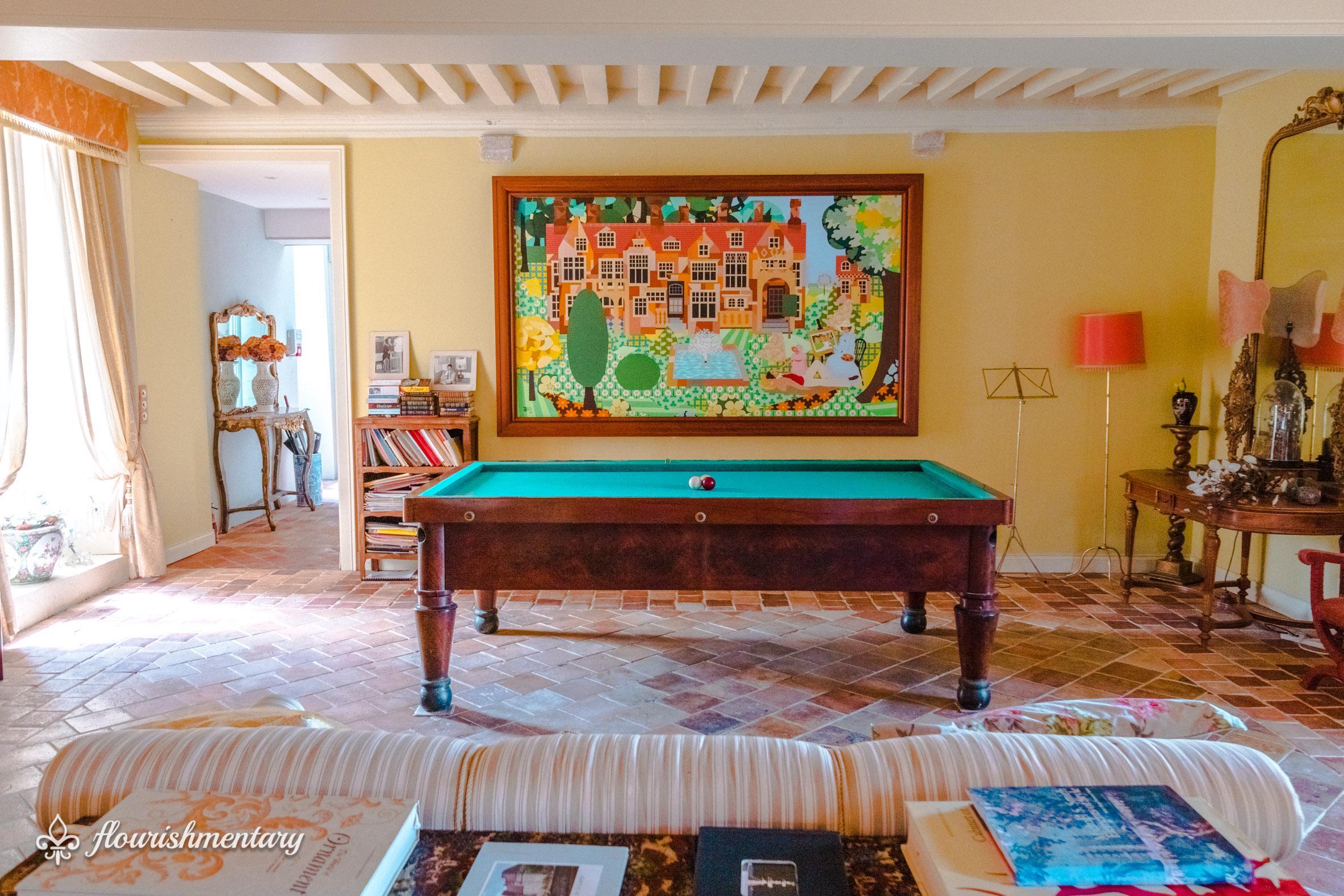 antique french billiards table chateau de lalande