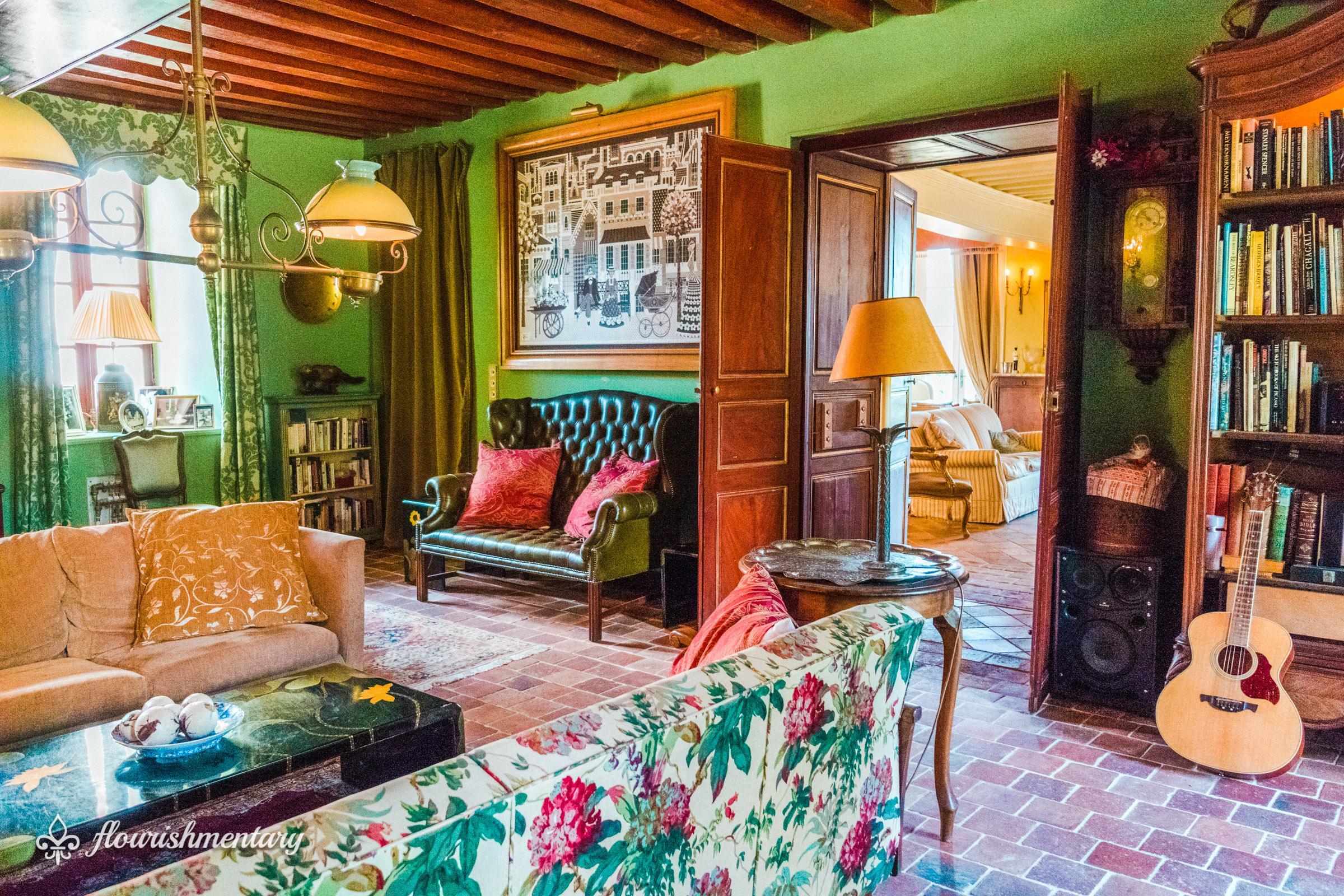the winter salon of chateau de lalande