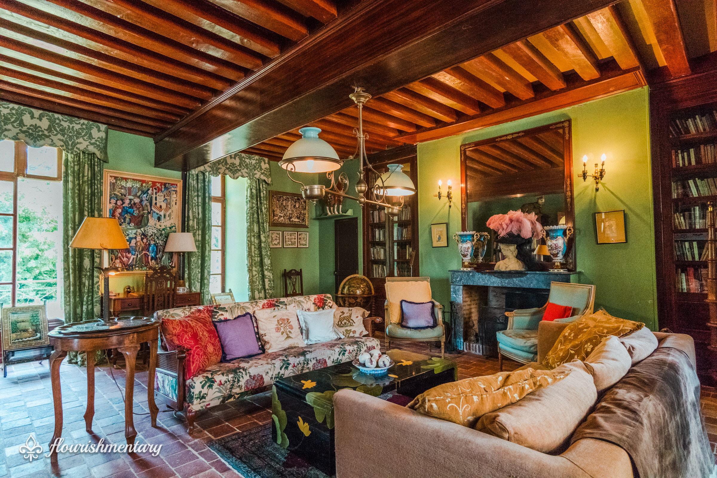 the winter salon chateau de lalande