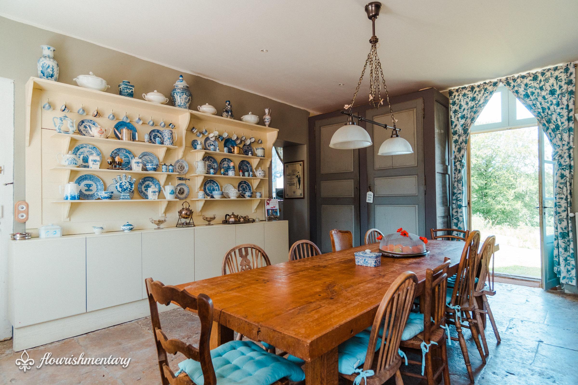 kitchen chateau de lalande
