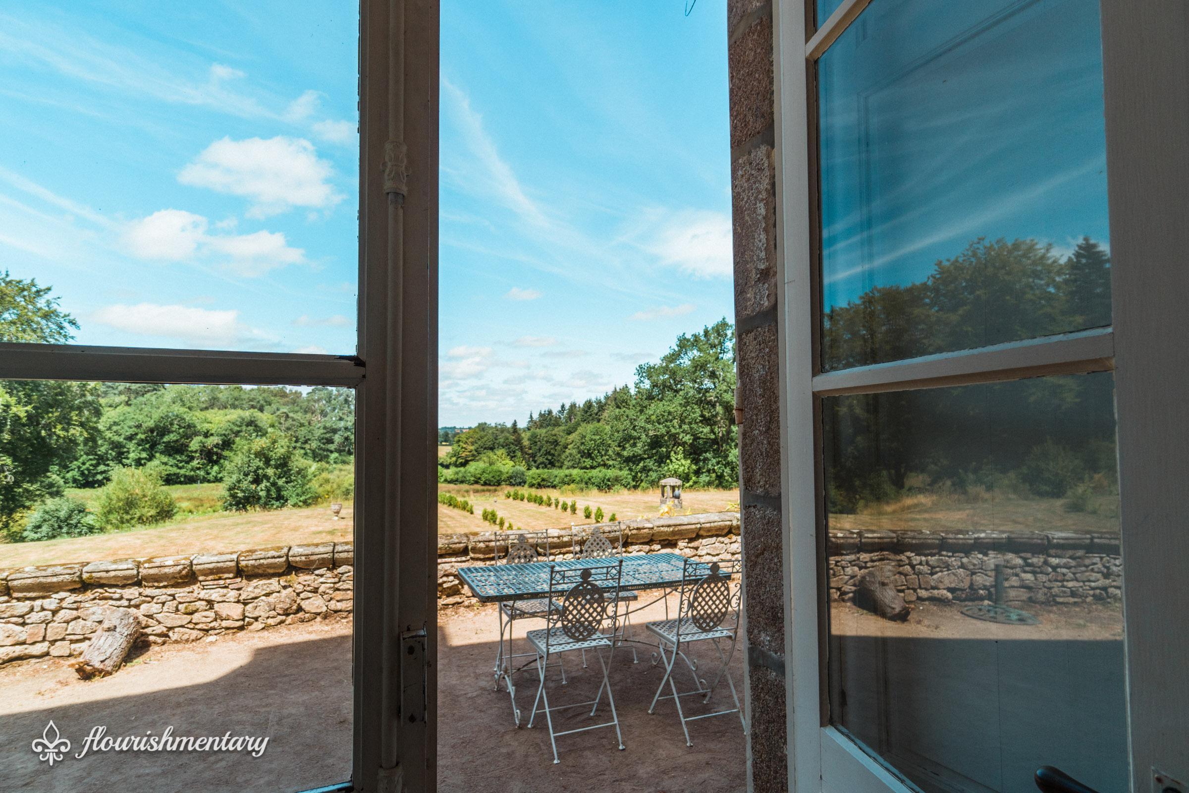 the terrace chateau de lalande