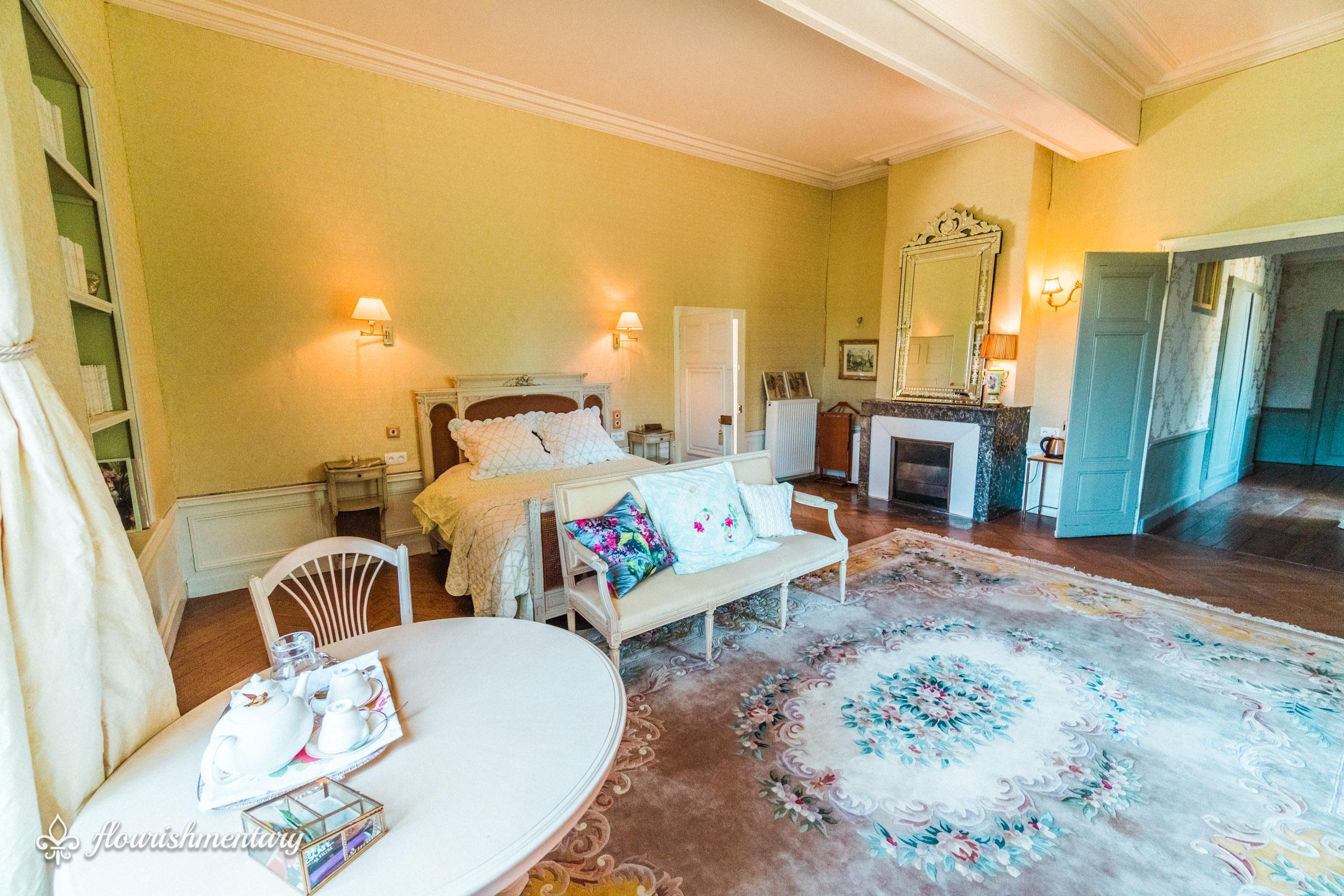 chambre de bonne maman guest room chateau de lalande