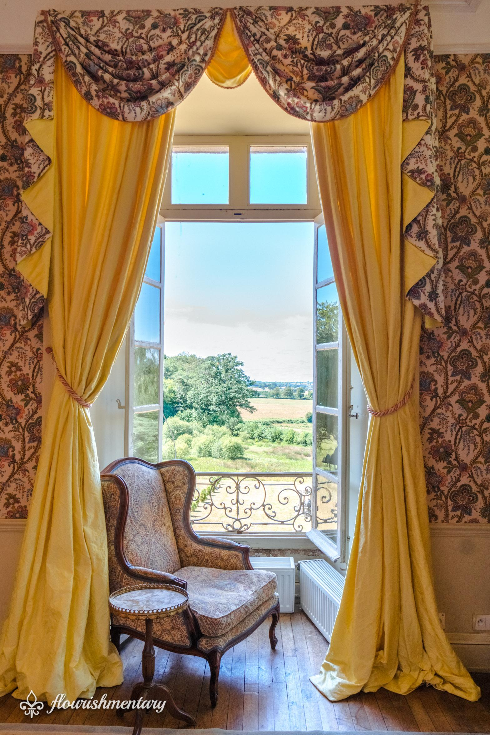 window view french chateau at chateau de lalande