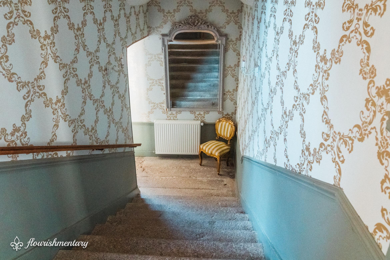 stairway chateau de lalande