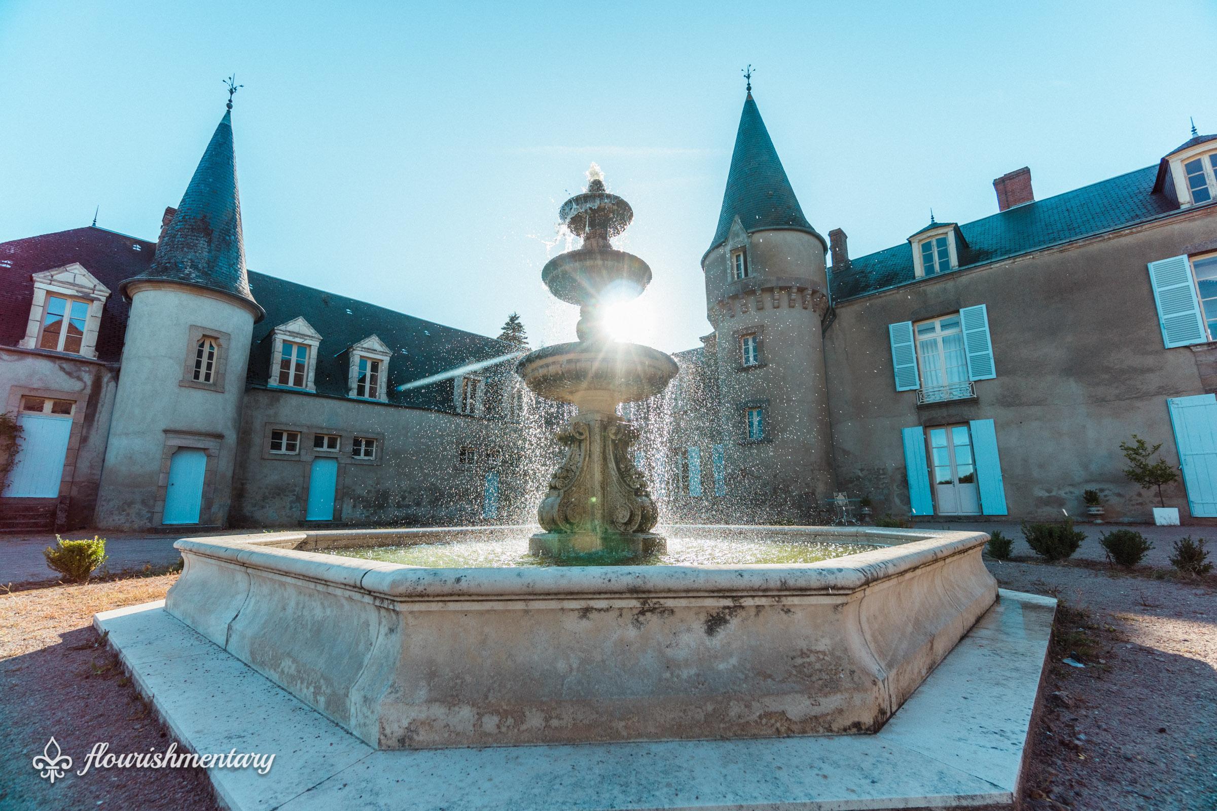 fountain chateau de lalande