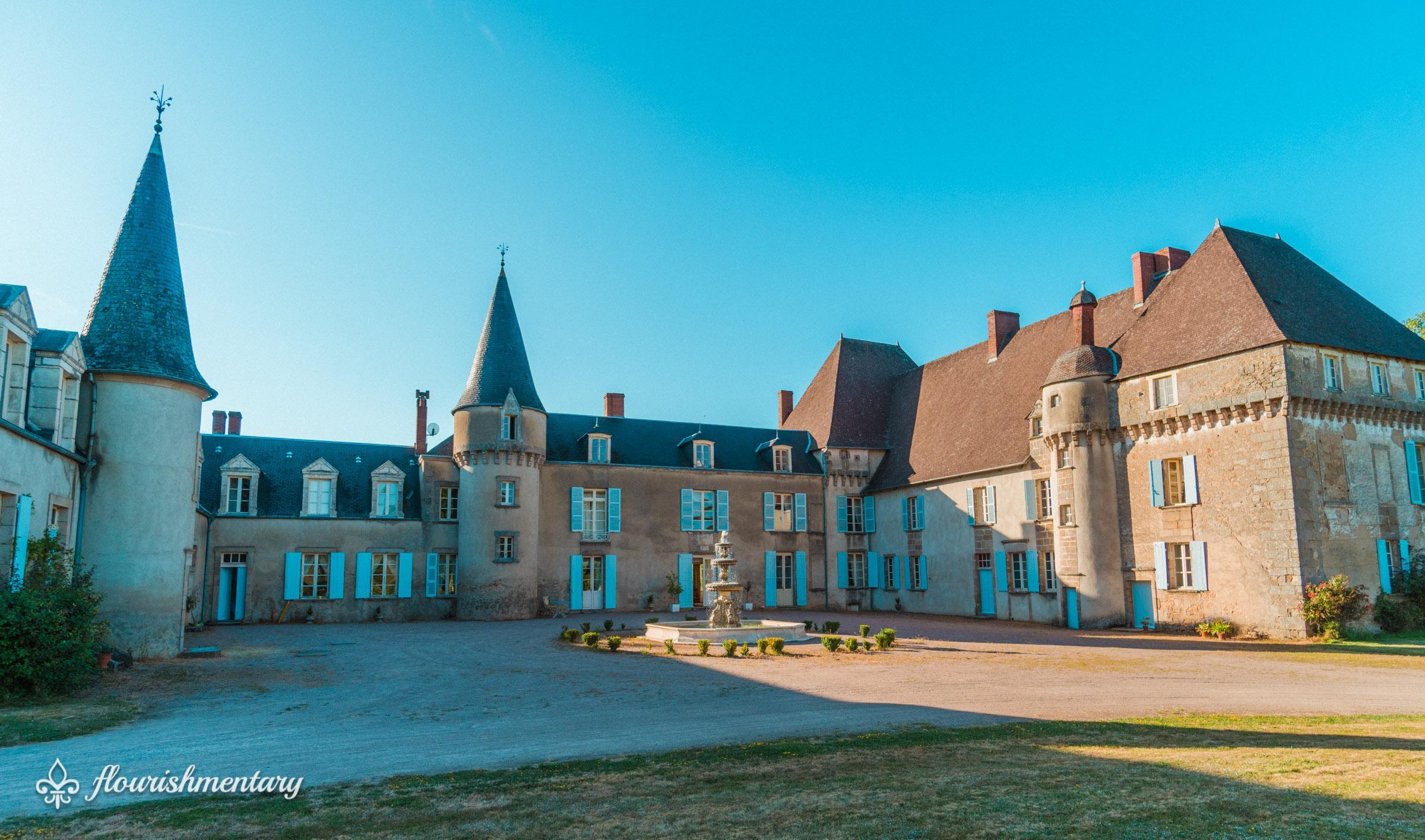 the front of chateau de lalande