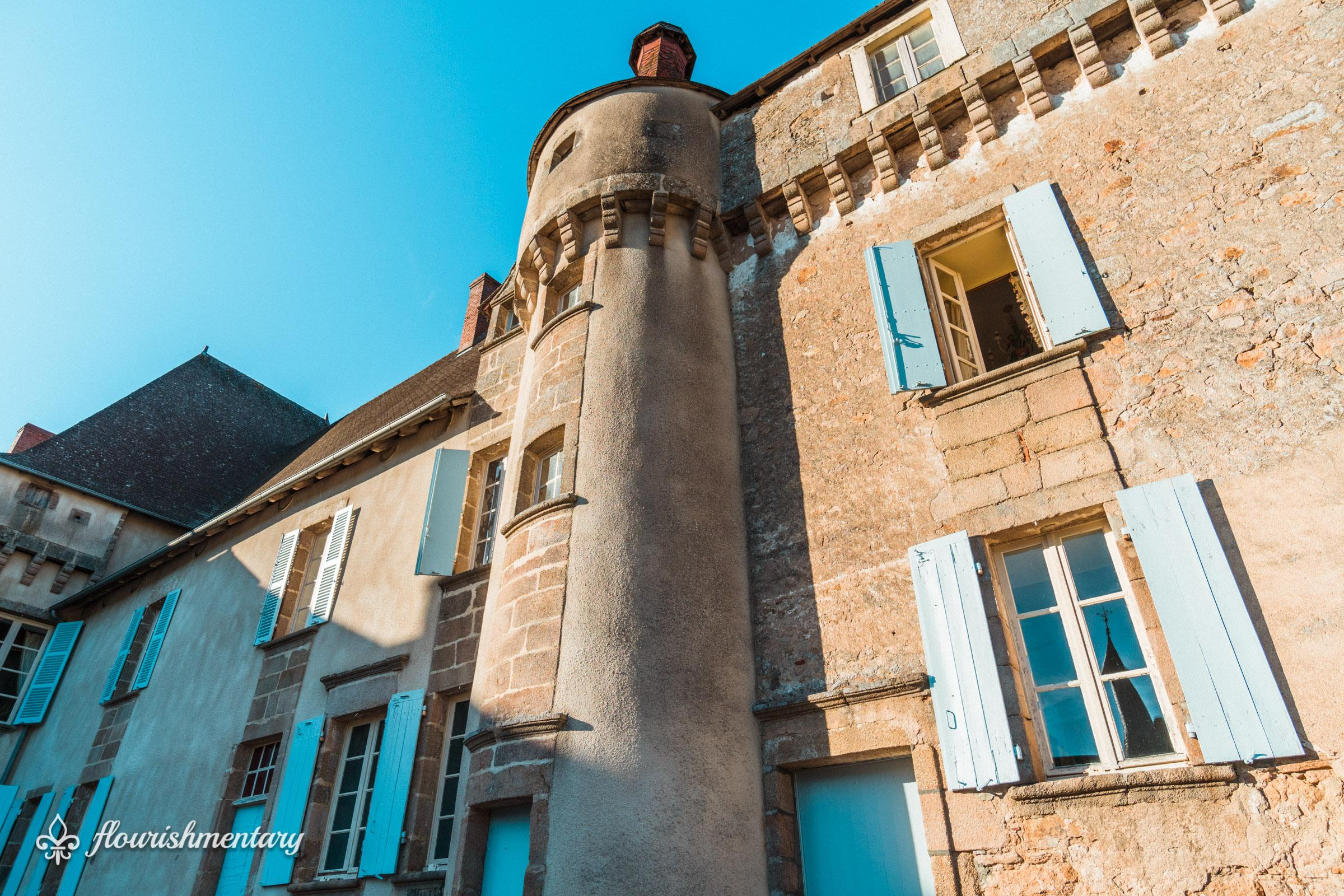 the oldest wing of chateau de lalande fortress like