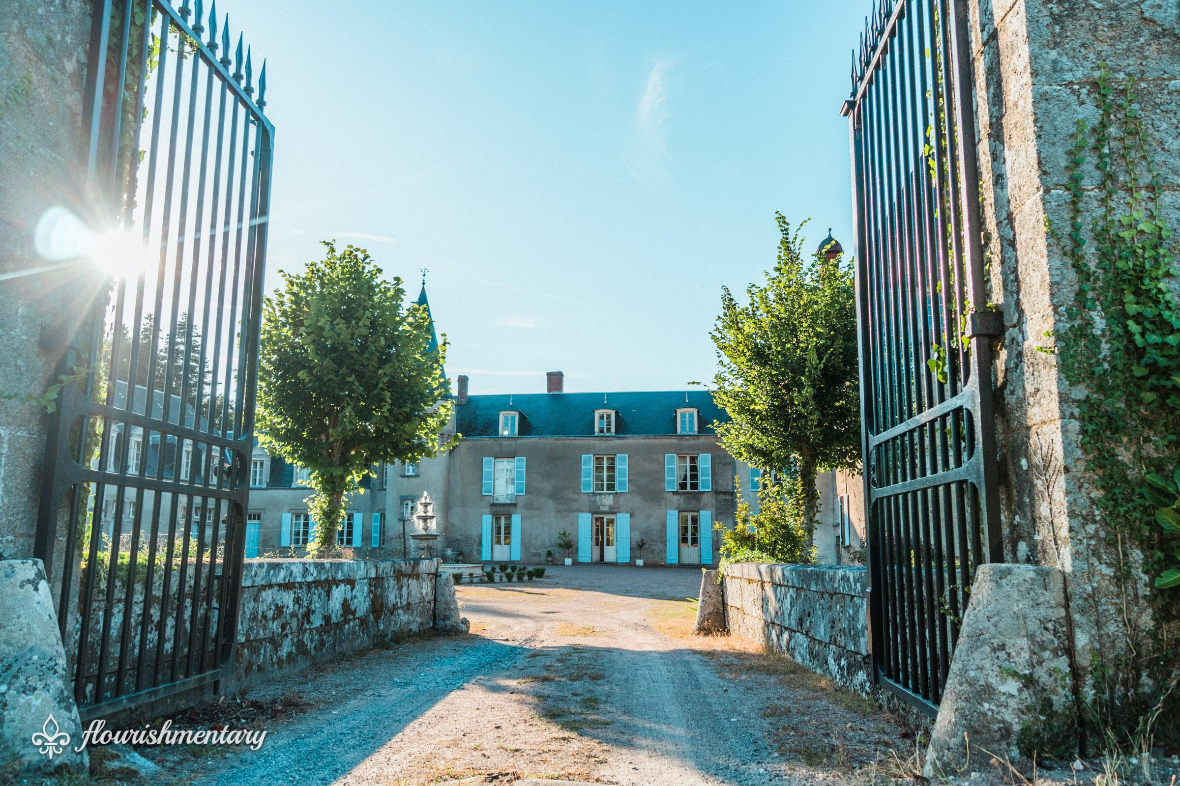 chateau front gate