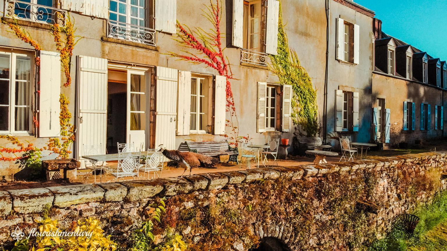 terrace of chateau de lalande