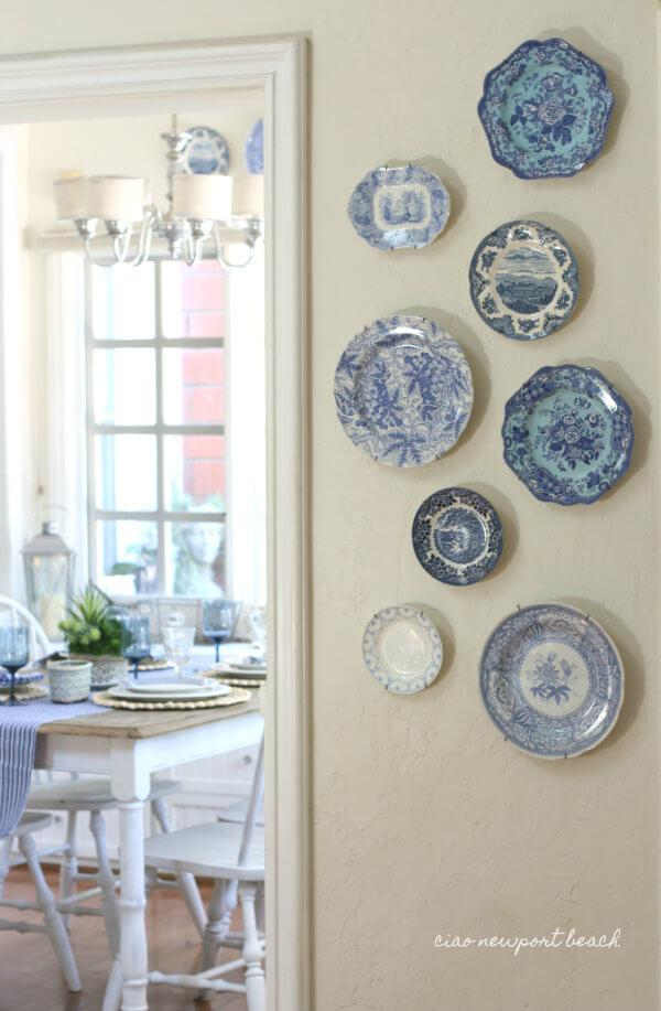 vintage wall decor plates