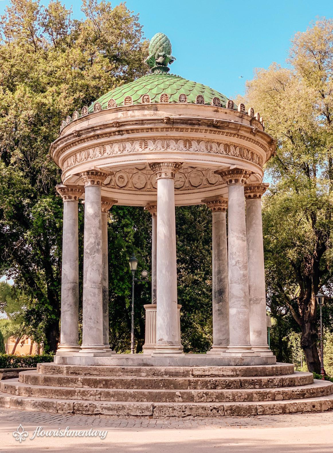 Temple of Diana altar villa borghese