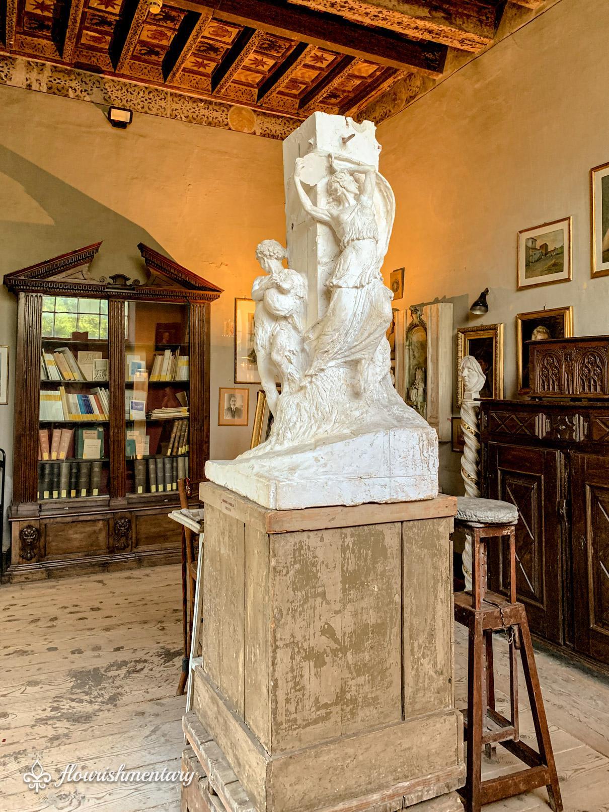Museo Pietro Canonica statue Villa Borghese gardens