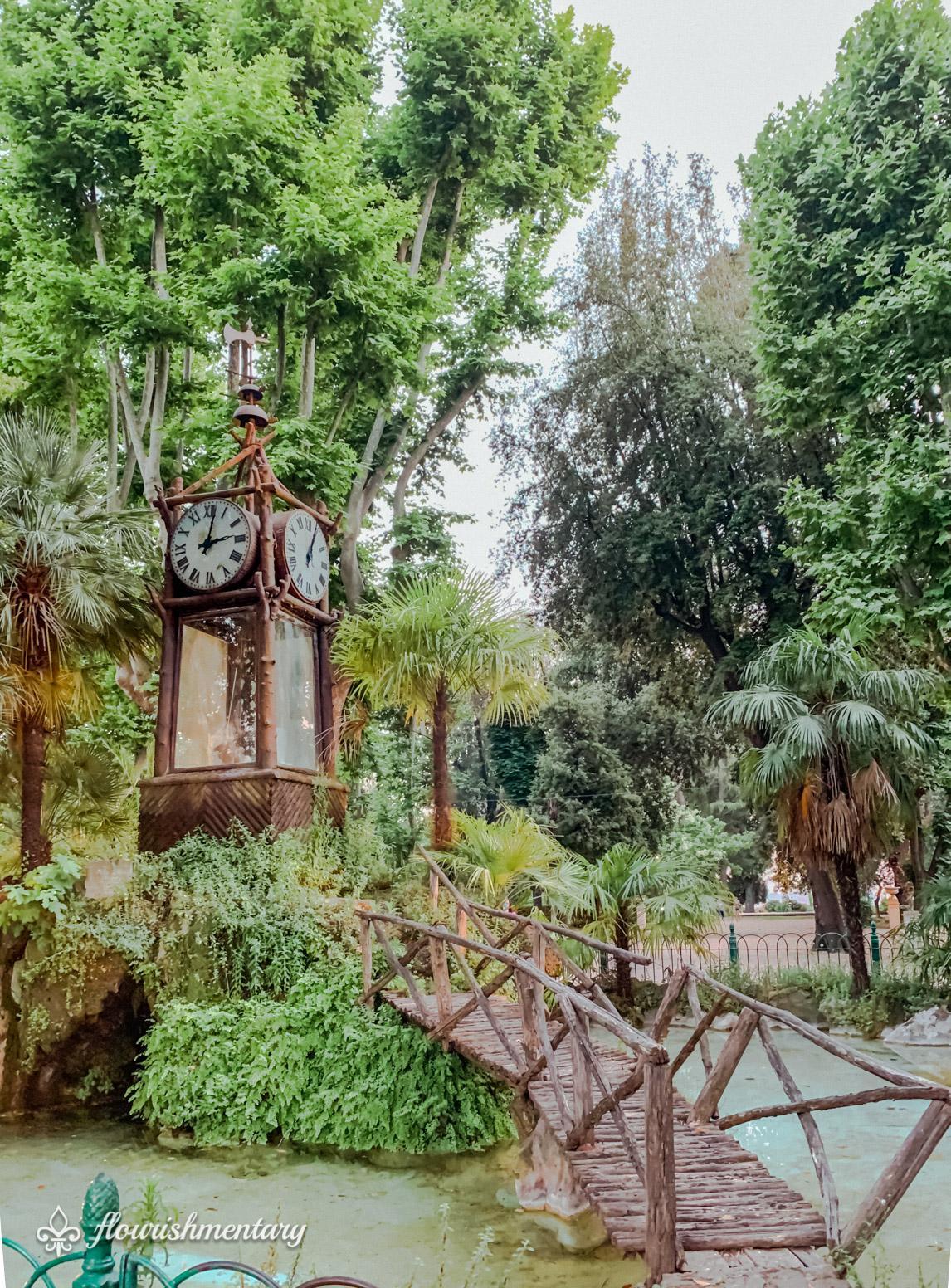 Villa Borghese Gardens Hydrochronometer water clock