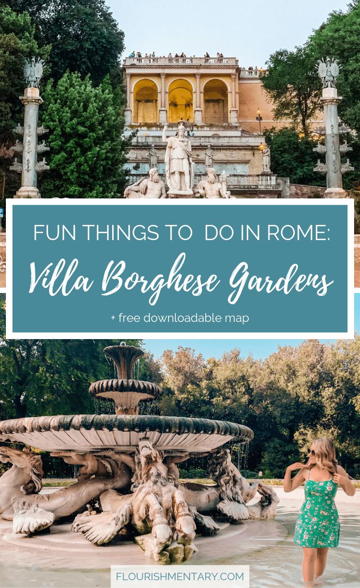 fun things to do in rome villa borghese rome walking tour