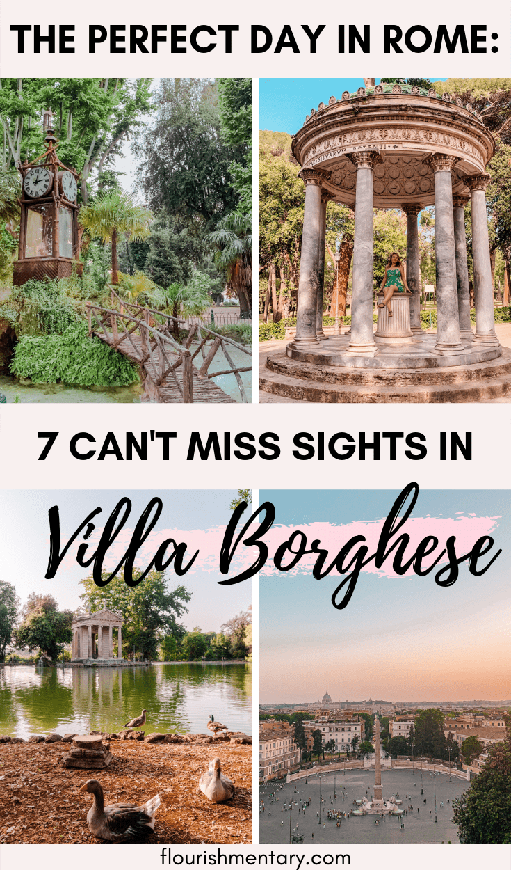 how to spend the perfect day in rome at the villa borghese gardens