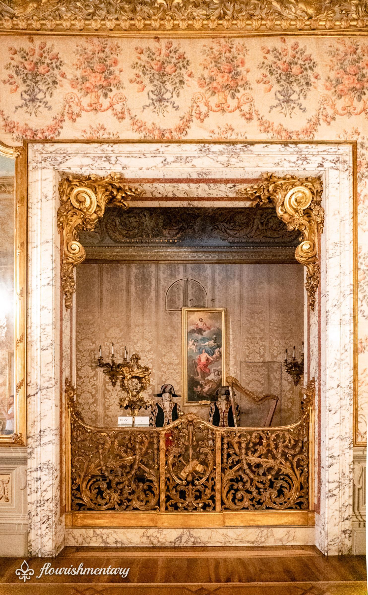 The Orchestra Pit in the galleria Doria Pamphilj Ballroom