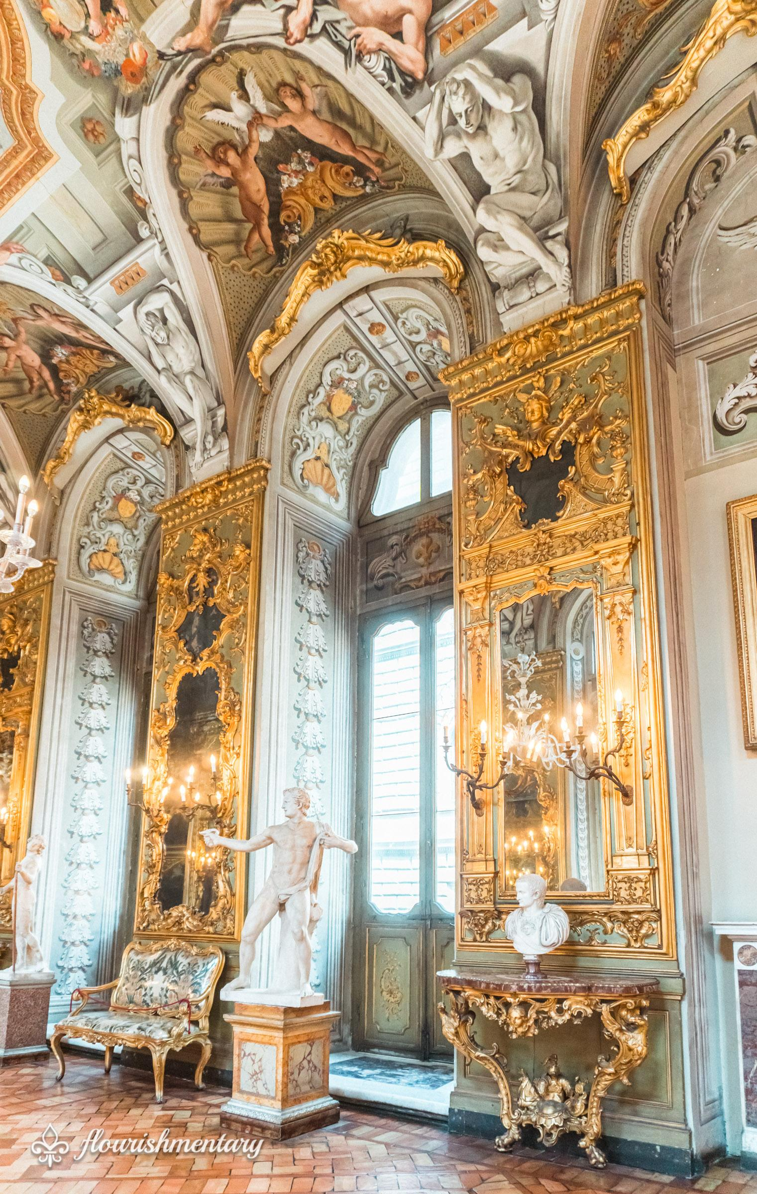 Galleria Doria Pamphilj hall of mirrors and art