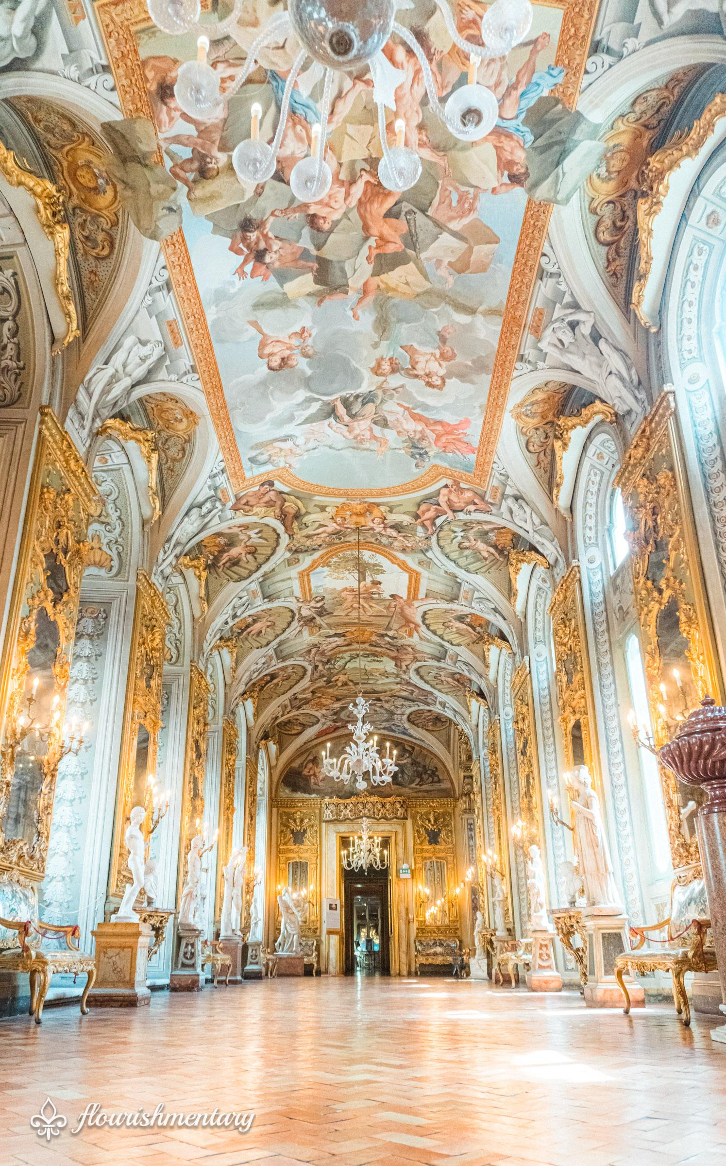 The Hall Of Mirrors Inside The Galleria Doria Pamphilj