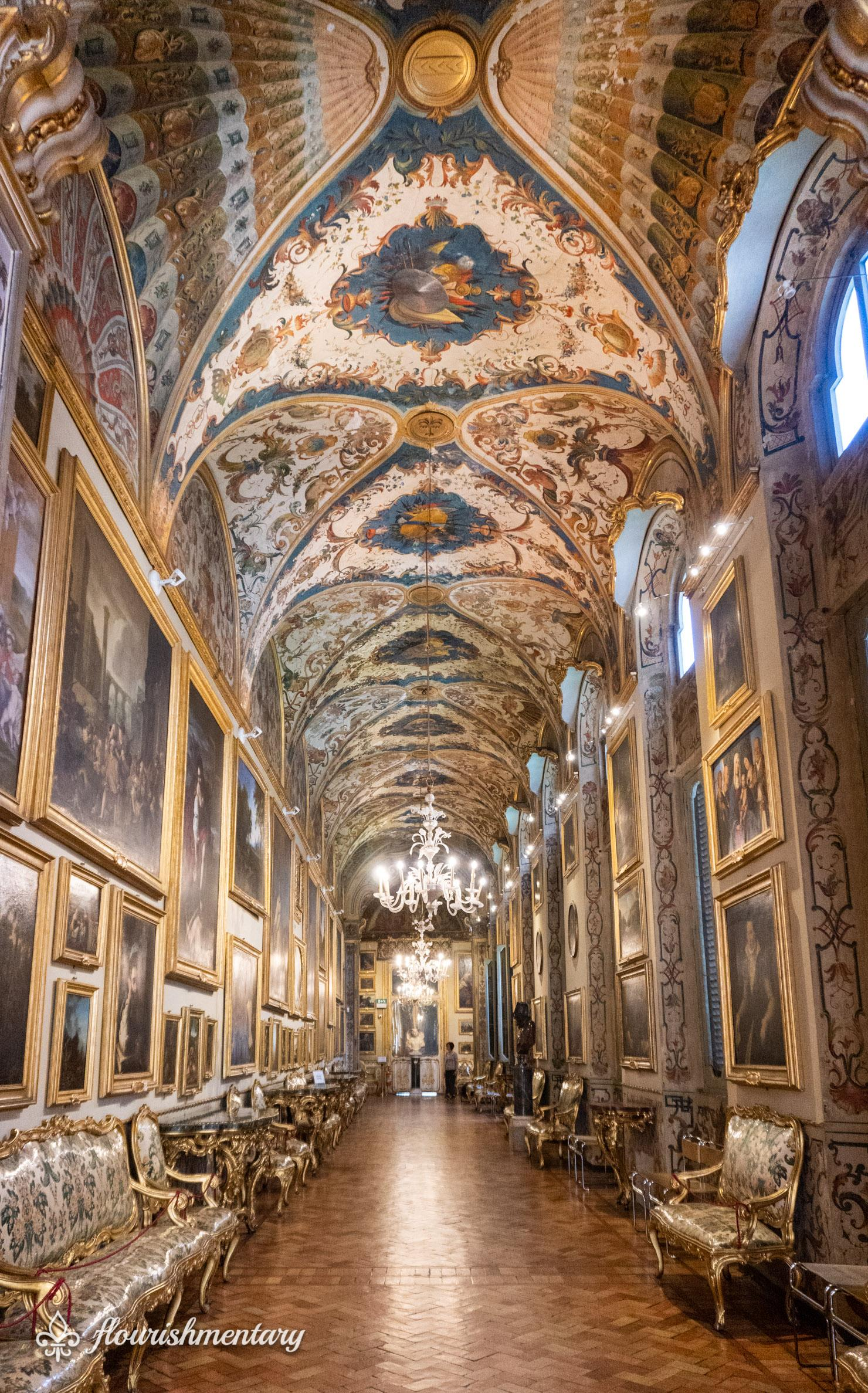 Galleria Doria Pamphilj fresco and art wing