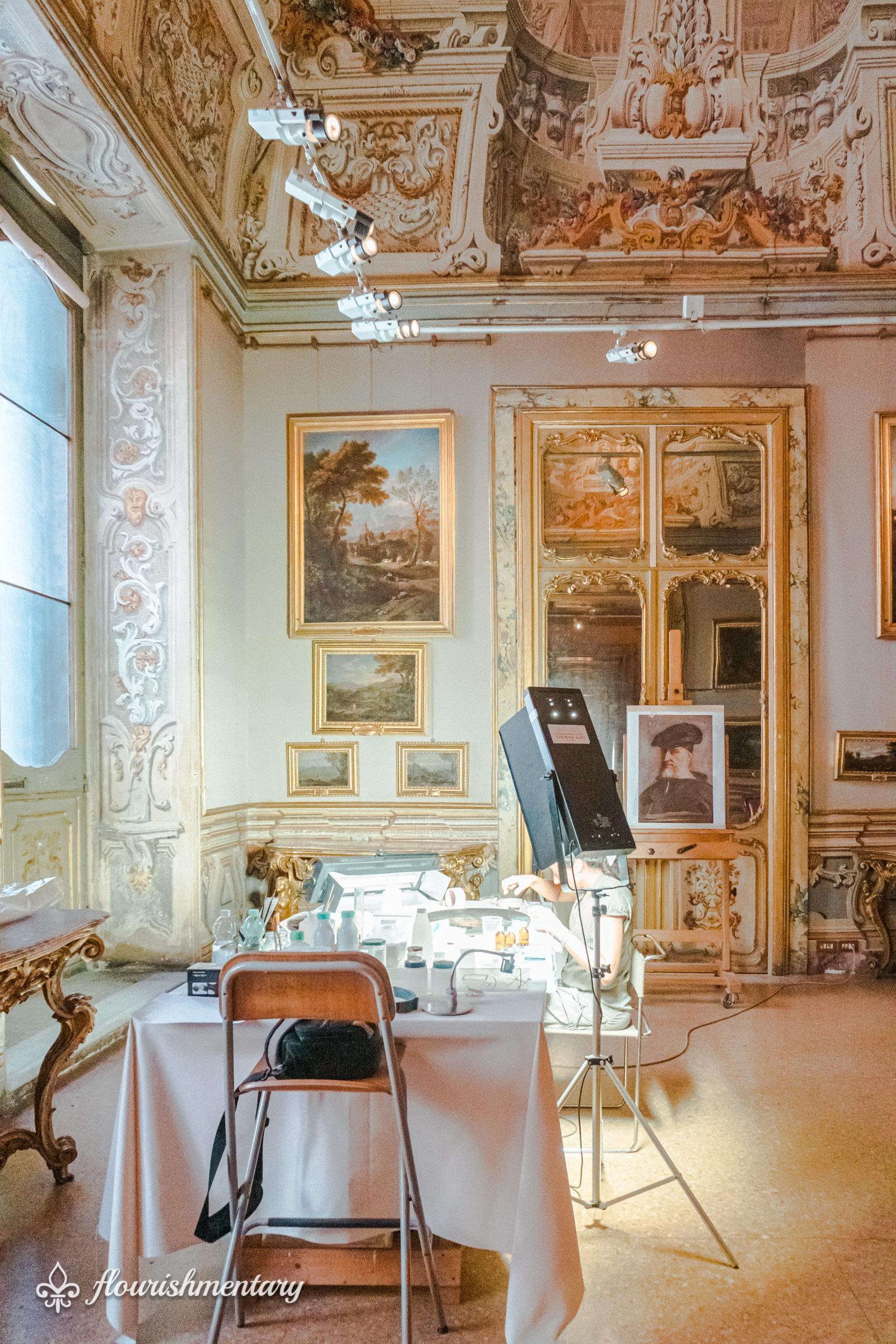 painting restoration Galleria Doria Pamphilj