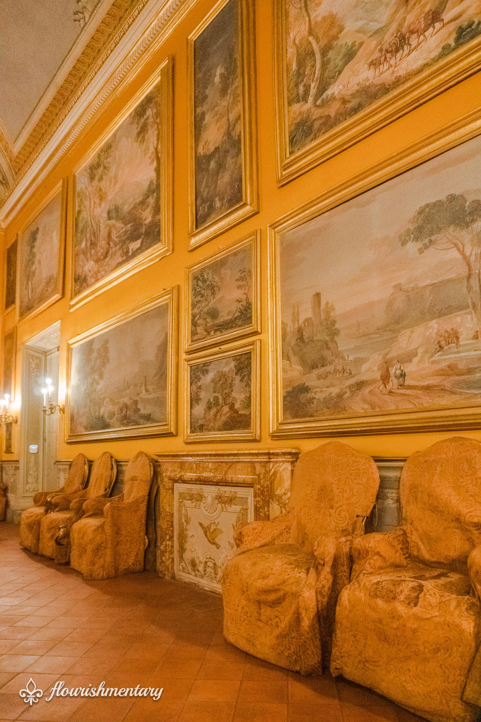 The popes throne room galleria doria pamphilj
