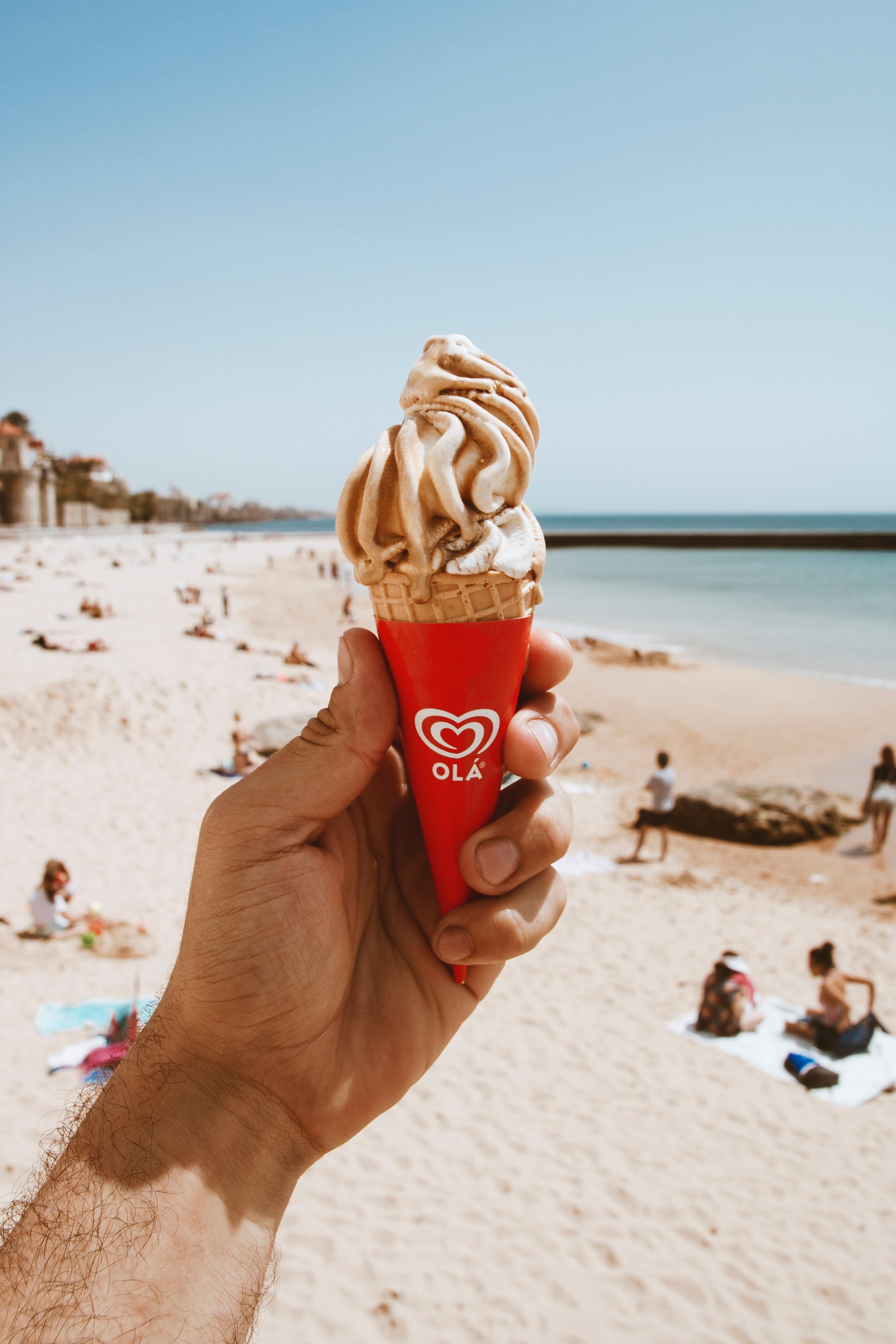gelato on the beach