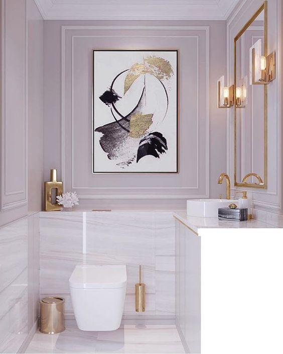 Beautiful Bathroom Wall Decor Ideas With Luxury Style 2020