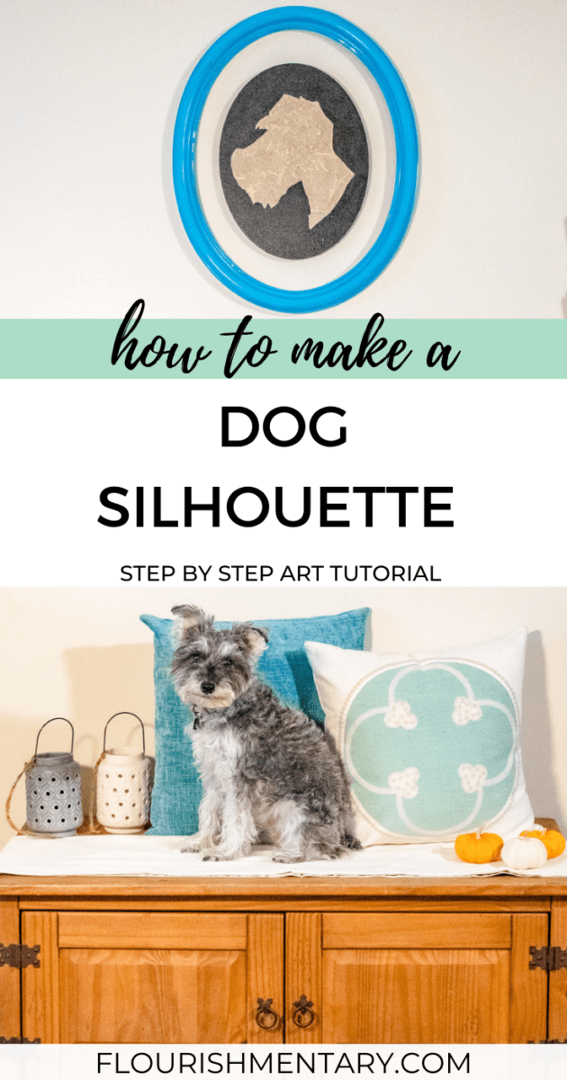 Vintage Style Dog Silhouette Art Tutorial For Pet Lovers