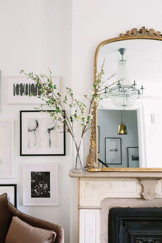 paris apartment decor mirror