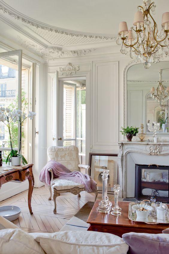 paris apartment chandelier
