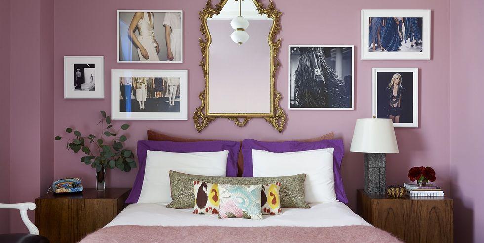 romantic bedroom large mirror