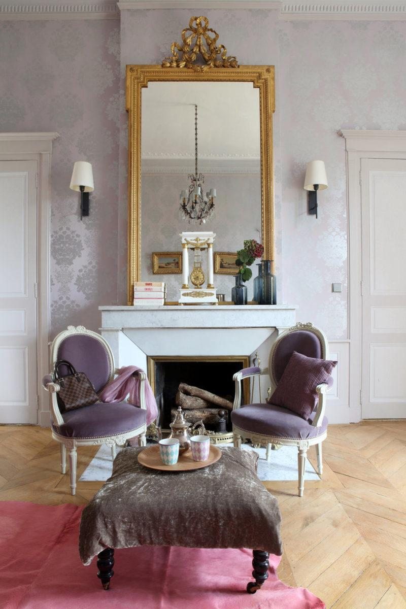 paris apartment gold mirror granny chic