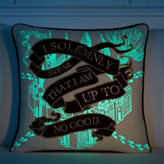 harry potter glow in the dark pillow decor
