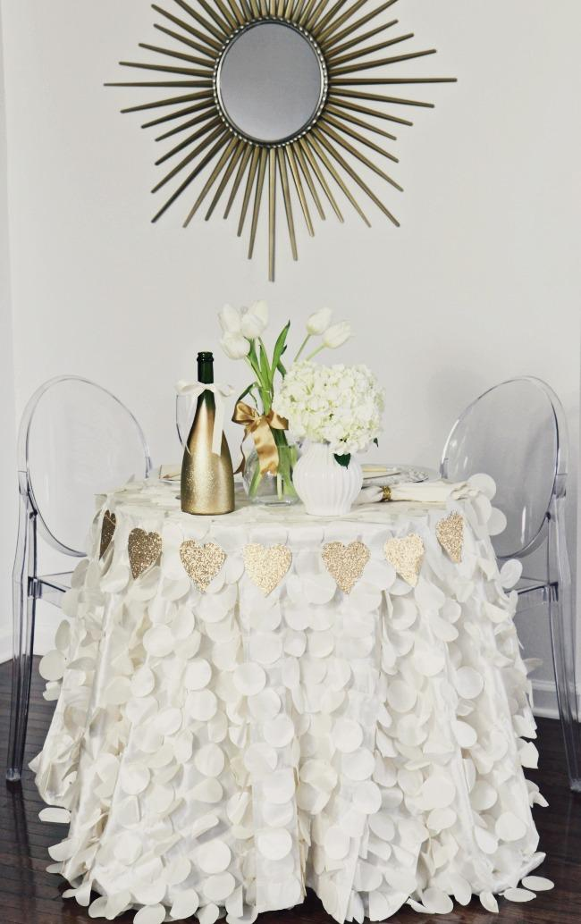 white table valentine's day decor