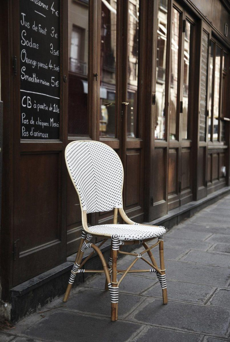 french bistro chairs woven