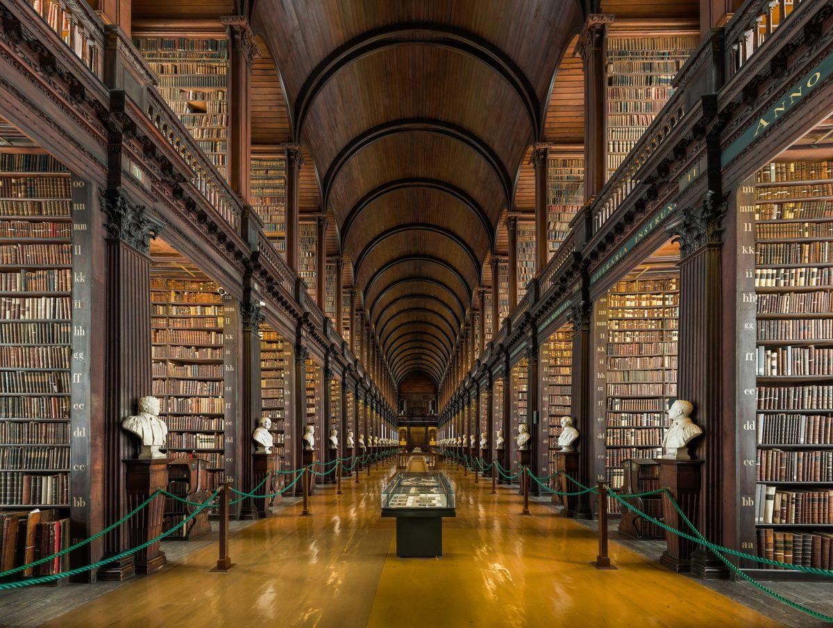 trinity College Library, Ireland most beautiful libraries