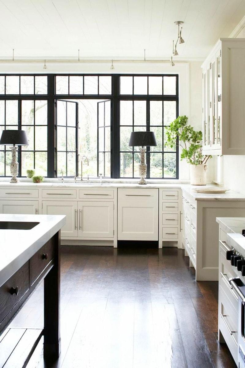black trim window luxury kitchen