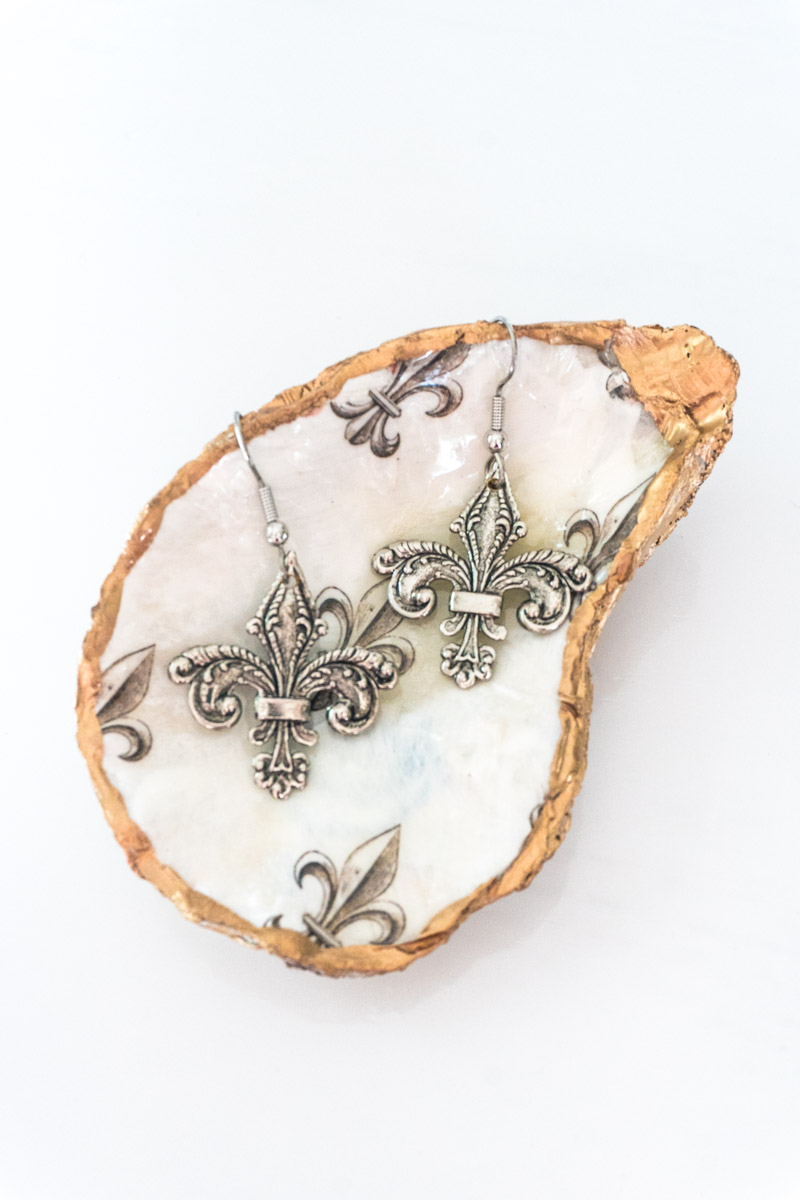 fleur de lis earrings hostess gift ideas