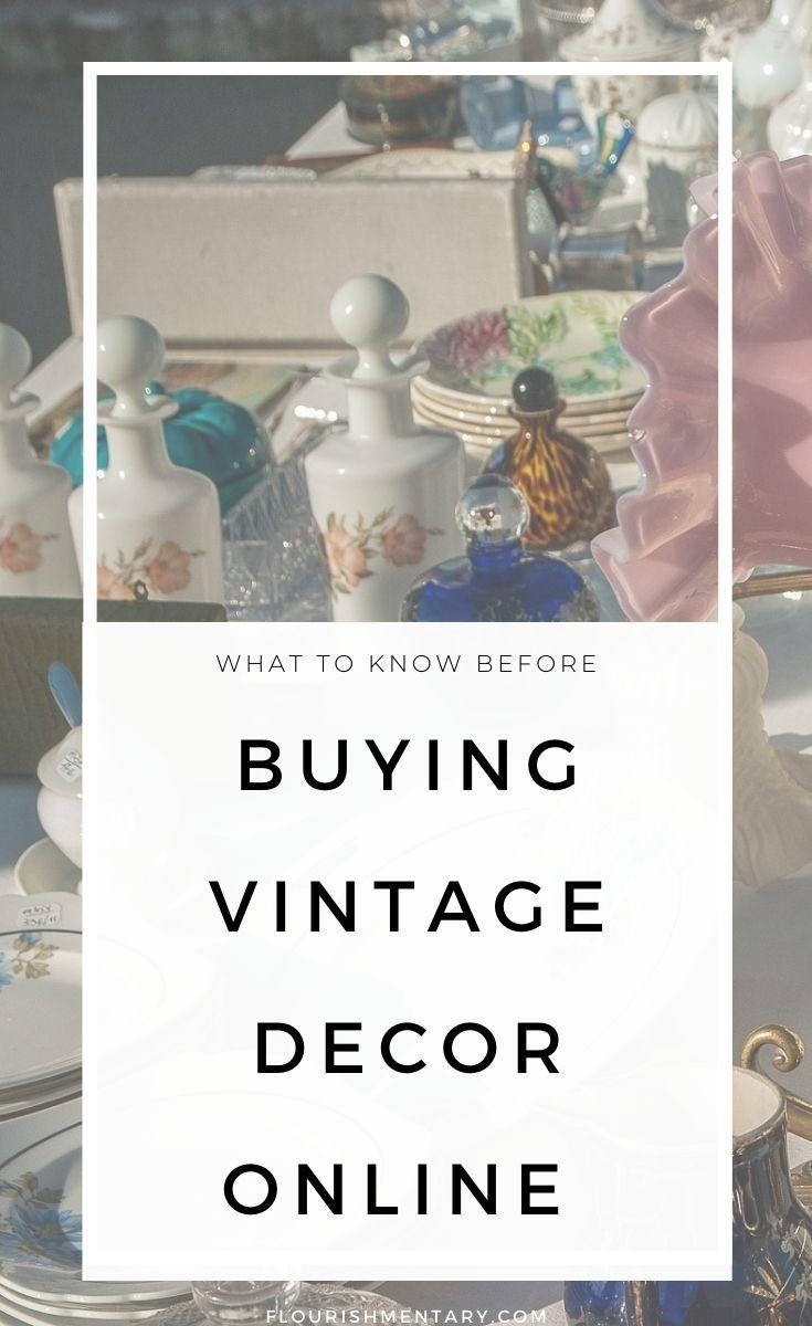 what to know before buying vintage decor online
