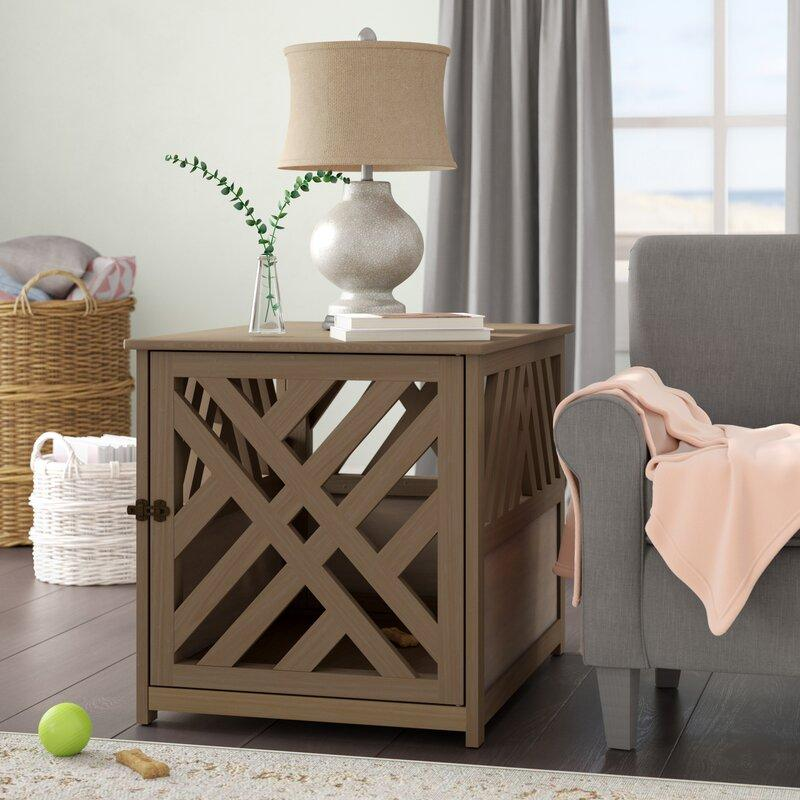 dog crate furniture end table