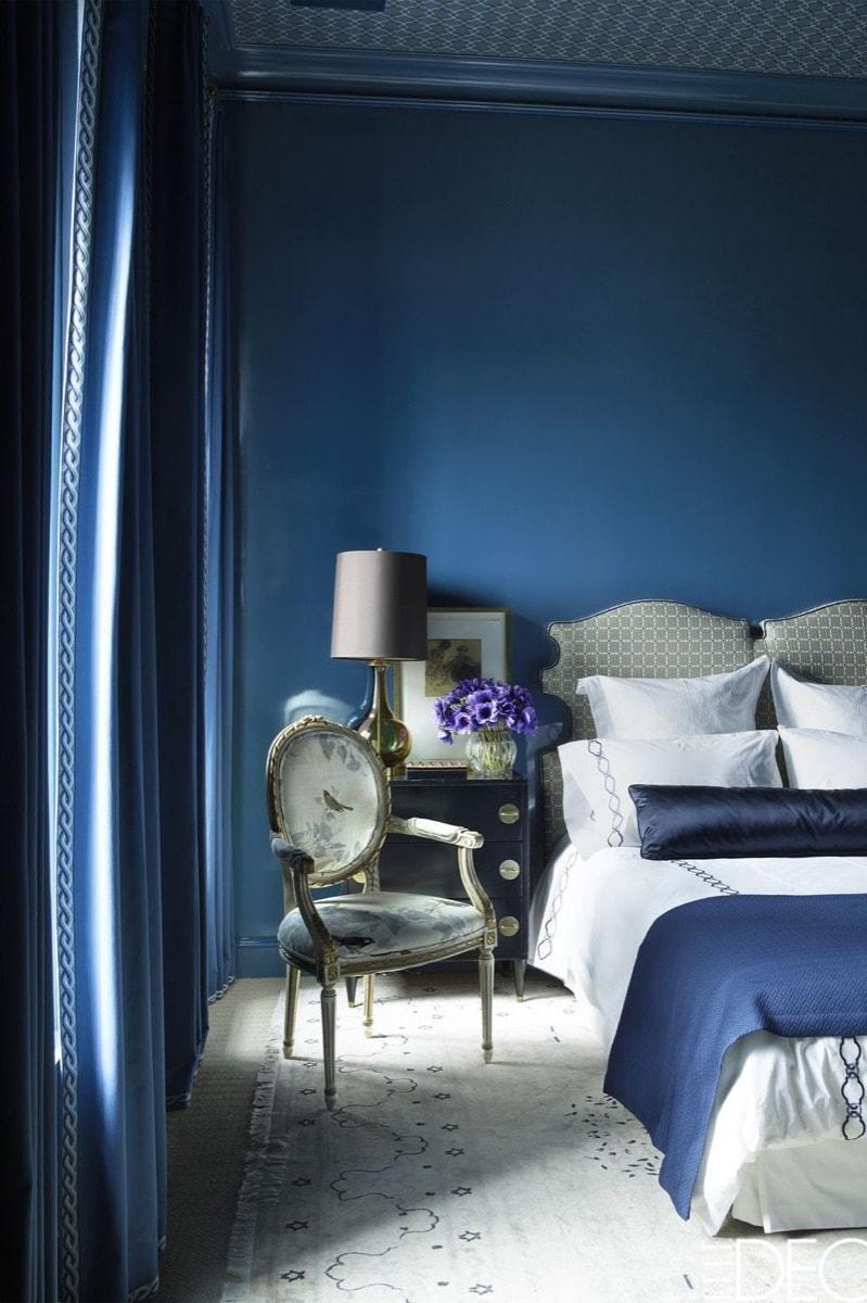 moody blue bedroom
