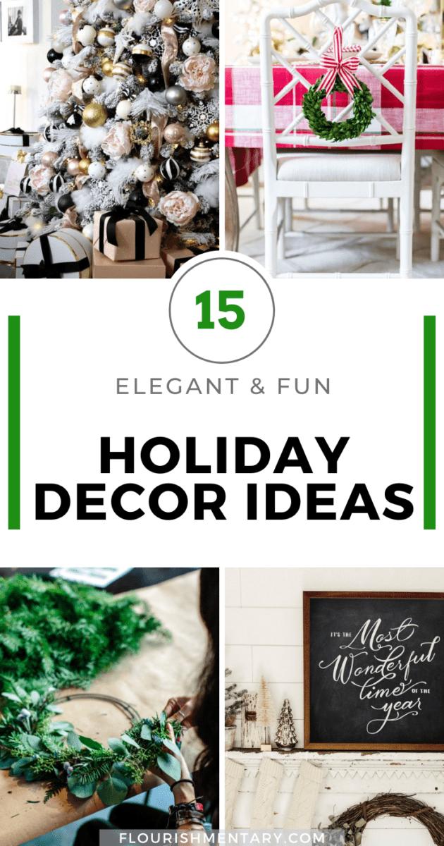 holiday decor ideas elegant